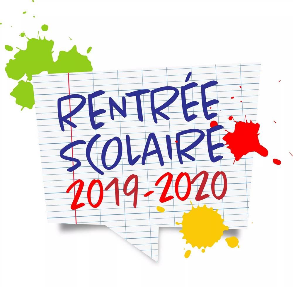 """Résultat de recherche d'images pour """"rentrée scolaire 2019"""""""